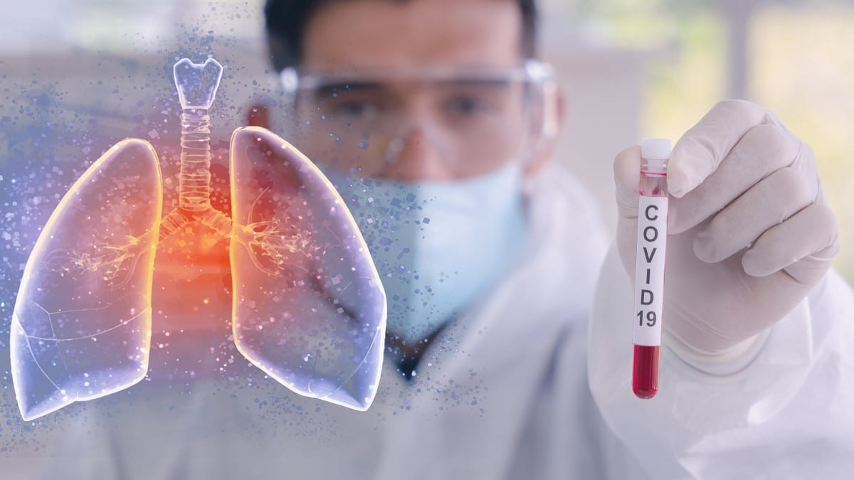 Scientist doing research on Covid-19 and its impact on human health
